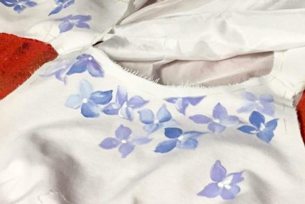 Blue & White Wedding/Dress Paintings